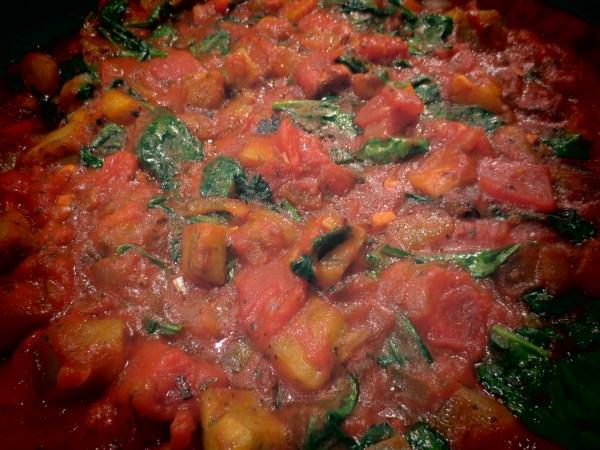 2013105 eggplant spinach pasta8