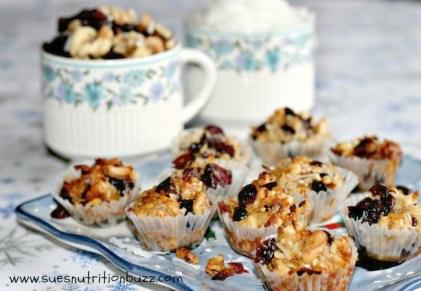 Sue's Nutrition Buzz:  Coconut Cranberry Honey Nut Cookies