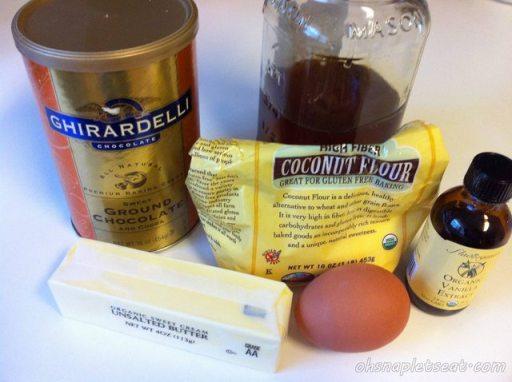 Ingredients (minus the coconut milk/milk)