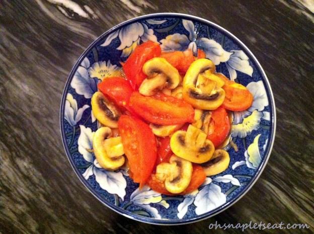 tomatoes mushrooms