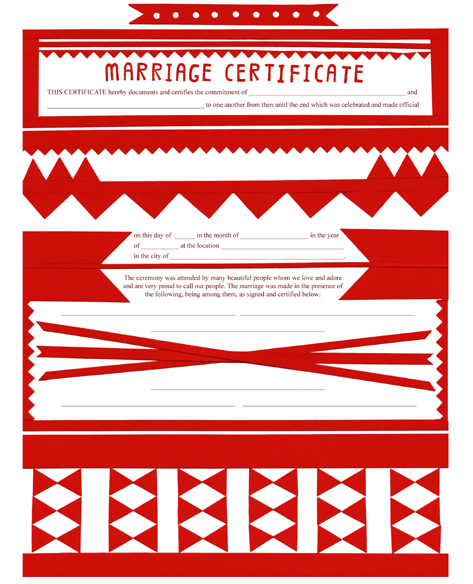 Small Object Modern Papercut Marriage Certificate The Small Object