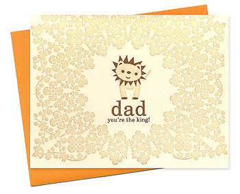 Night Owl Lion Fathers Day Seasonal Stationery: Fathers Day Cards