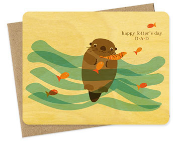 Night Owl Otter Fathers Day Seasonal Stationery: Fathers Day Cards