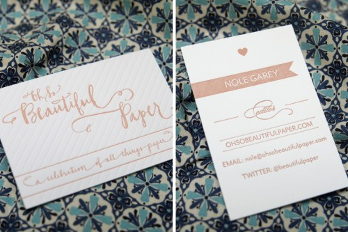 Oh So Beautiful Paper Biz Cards Front Back 500x333 Welcome!