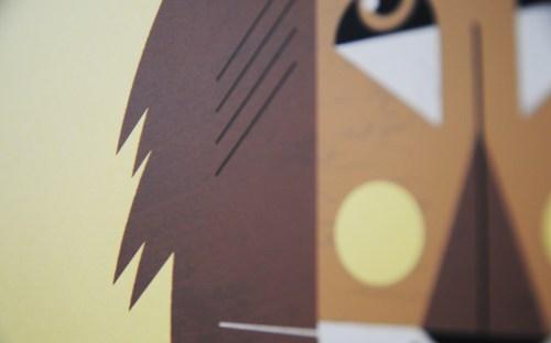 a modern eden lion poster detail 500x312 A Modern Eden Nursery Poster Series