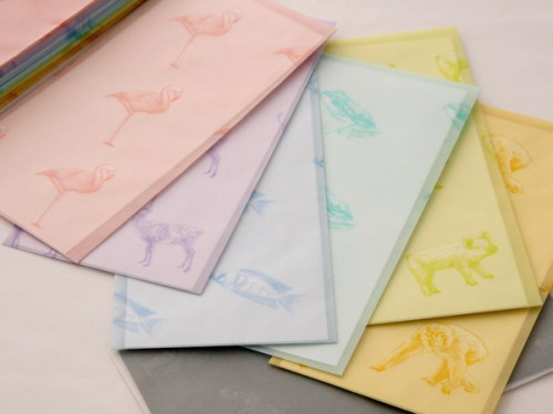 colorful animals stationery 500x375 Winged Wheel