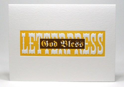 god bless letterpress 500x350 Hip Hip Hooray!