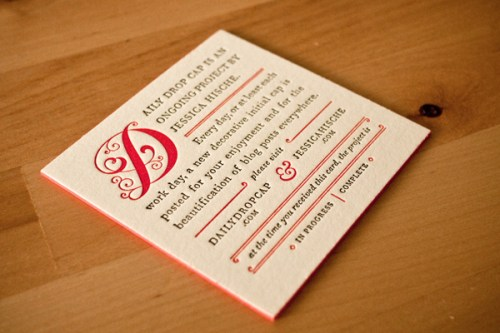 jessica hische business cards 500x333 Business Card Ideas and Inspiration #3