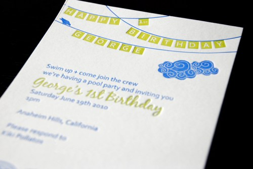 letterpress kids birthday party invitation 500x335 Kids Party Invitations