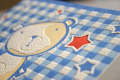 teddy bear letterpress baby announcement3 500x333 Teddy Bear Baby Announcements