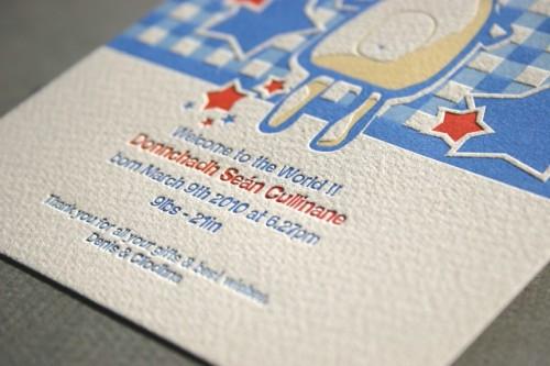 teddy bear letterpress baby announcement4 500x333 Teddy Bear Baby Announcements
