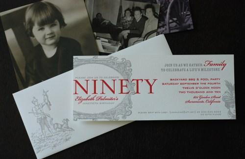 90th Birthday Party Invitation 500x324 90th Birthday Party Invitation