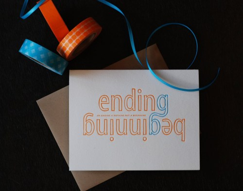 Ending is just a beginning1 500x393 90th Birthday Party Invitation
