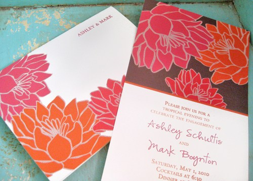 Tropical Floral Wedding Invitation Suite 500x359 Invitations for a Surprise Wedding!