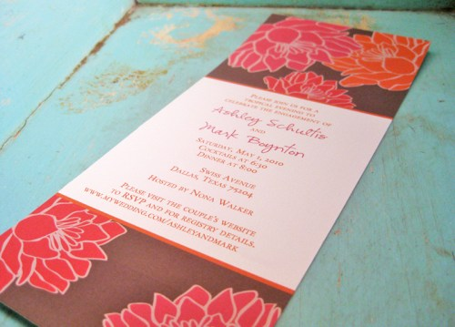 Tropical Floral Wedding Invitation 500x359 Invitations for a Surprise Wedding!
