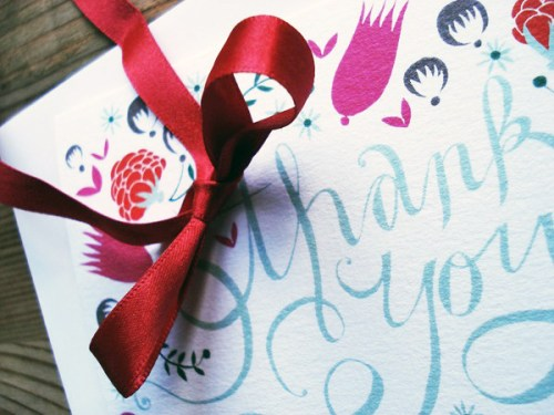 hand lettered thank you card design2 500x375 A Hand Lettered Thank You
