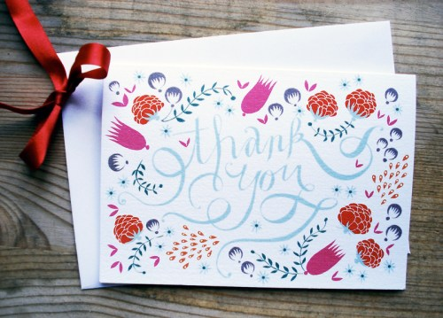 hand lettered thank you card 500x359 A Hand Lettered Thank You