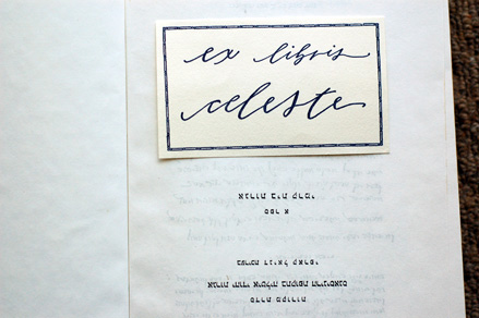 neither snow calligraphy exlibris bookplate Lovely Calligraphy from Neither Snow