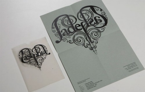 transparency heart wedding invitation envelope 500x319 Perfect Half Wedding Invitations