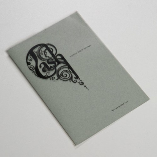 transparency heart wedding invitation 500x502 Perfect Half Wedding Invitations