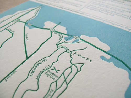 Aqua Emerald Wedding Invitations Map Detail 500x375 Emerald + Aqua Wedding Invitations