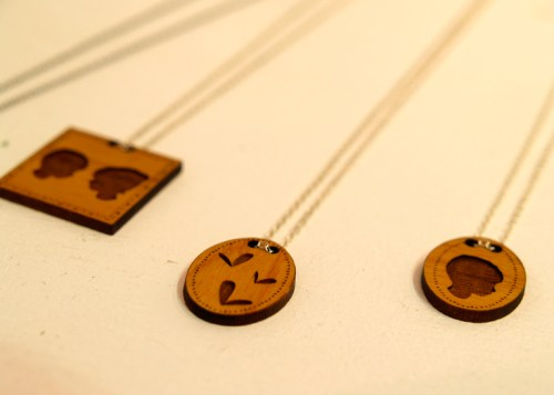 Figs Ginger NYIGF Wood Silhouette Necklaces 500x357 NYIGF, Part 1