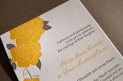 Pistachio Press Letterpress Wedding Invitations Bloom2 500x333 Wedding Invitations   Pistachio Press