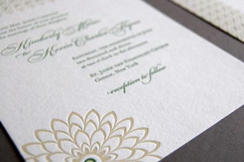 Pistachio Press Letterpress Wedding Invitations Botanical Lace4 500x333 Wedding Invitations — Pistachio Press, Part2