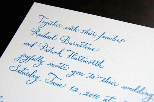 Pistachio Press Letterpress Wedding Invitations Calligraphy Jane3 500x333 Wedding Invitations — Pistachio Press, Part2