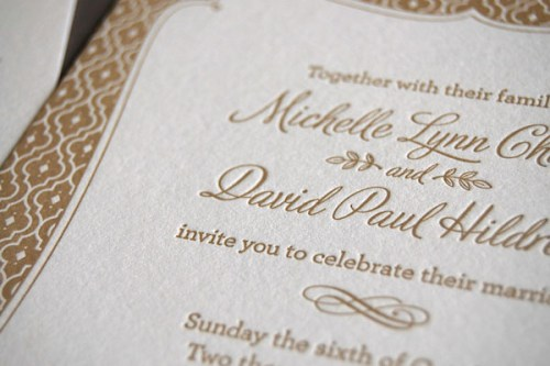 Pistachio Press Letterpress Wedding Invitations Chocolate Truffle2 500x333 Wedding Invitations — Pistachio Press, Part2
