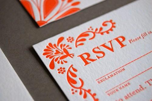 Pistachio Press Letterpress Wedding Invitations Mexican Tile2 500x331 Wedding Invitations   Pistachio Press
