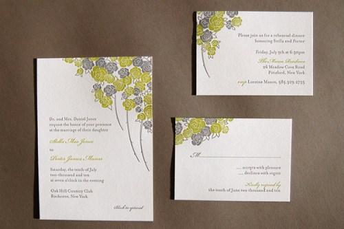 Pistachio Press Letterpress Wedding Invitations Summer Garden 500x333 Wedding Invitations   Pistachio Press
