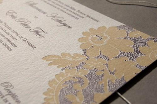 Pistachio Press Letterpress Wedding Invitations Vintage Lace2 500x333 Wedding Invitations   Pistachio Press