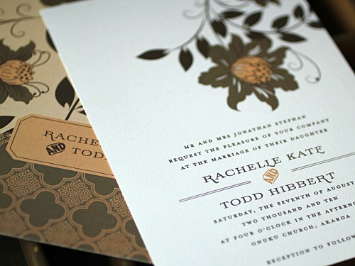 Rachelle Todd Garden Party Wedding Invitations 500x375 Rachelle + Todds Garden Inspired Wedding Invitations