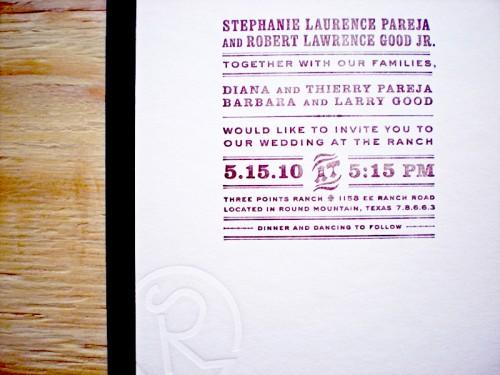 Texas Ranch Wedding Invitation 500x375 Texas Ranch Wedding Invitations