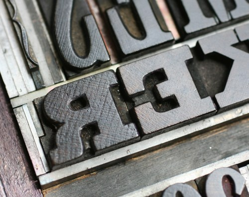 grant2a 500x396 The Printing Process: Letterpress Printing with Antique Type