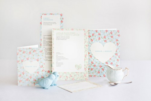 mitchell dent english floral pattern wedding invitation suite 500x333 Wedding Invitations   Mitchell + Dent
