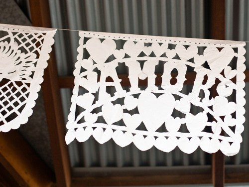 texas ranch wedding invitations amore papel picado 500x375 Texas Ranch Wedding Invitations