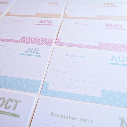 Dizzy Wizzy 2011 Desk Calendar 2011 Calendar Round Up, Part 1