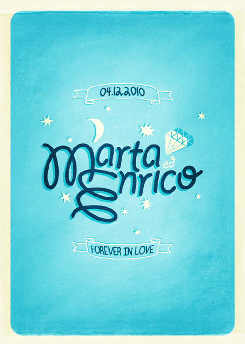 Illustrated Hand Lettering Wedding Invitation Simple + Whimsical Wedding Invitations