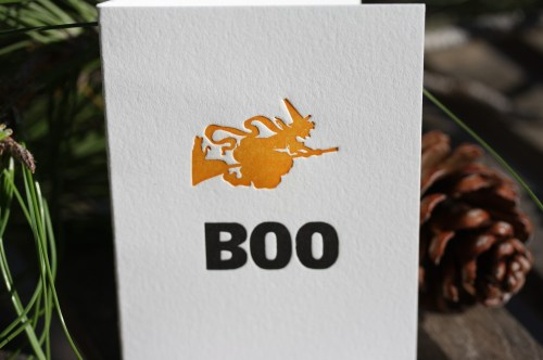 halloween witch hazel and violet 500x332 Seasonal Stationery: Halloween Cards and Invitations