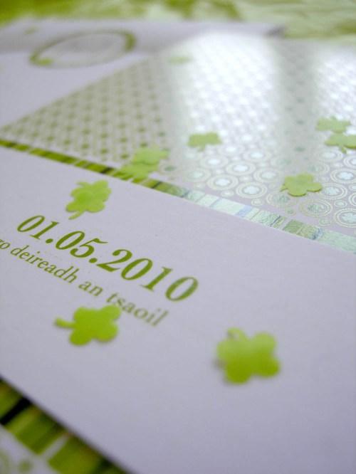 spring green wedding invitation invitations detail 500x666 Valentina + Marcos Ireland Inspired Italian Wedding Invitations