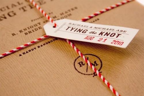 woodgrain modern wedding invitations 500x333 Wedding Field Guide Invitations