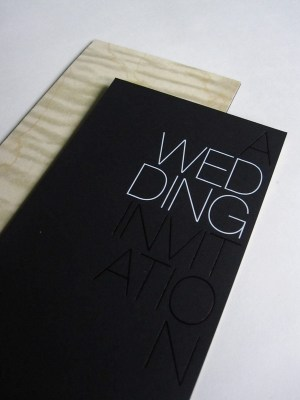 Black White Modern Wedding Invitation 300x400 Modern Foil Stamp Wedding Invitations