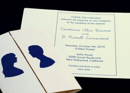 Blue Silhouette Gatefold Wedding Invitations Wording 500x358 Constance + Russells Silhouette Gatefold Wedding Invitations