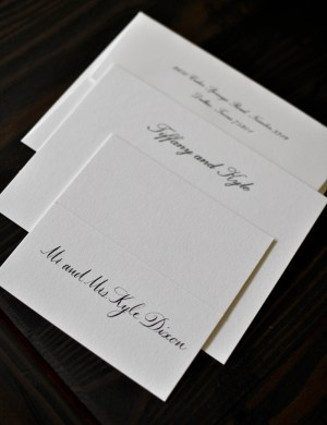 Classic Black White Wedding Calligraphy All2 300x390 Classic Black + White Calligraphy