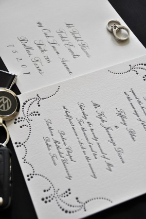 Classic Black White Wedding Calligraphy Inside 300x451 Classic Black + White Calligraphy