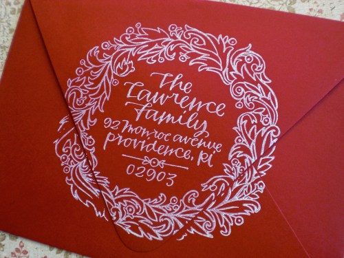 Primele Holiday Address Stamp2 500x375 Holiday Calligraphy Stamp