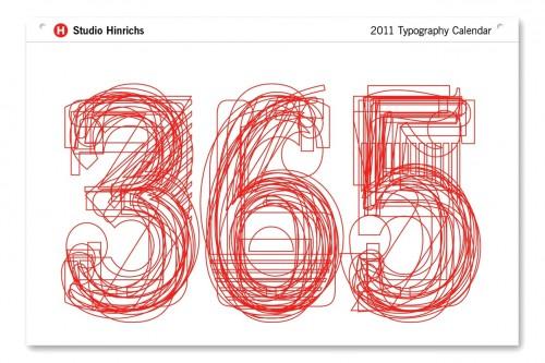 Typographic Calendar 500x333 2011 Calendar Round Up, Part 4