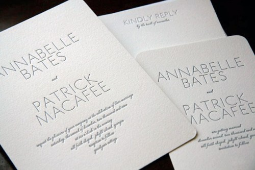 page stationery classic wedding invitation belle 500x333 Wedding Invitations   Page Stationery